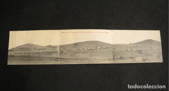 MELILLA-VISTA GENERAL DEL AVANZAMIENTO O SAN JUAN DE LAS MINAS-POSTAL TRIPLE ANTIGUA-(81.252) (Postales - España - Melilla Antigua (hasta 1939))