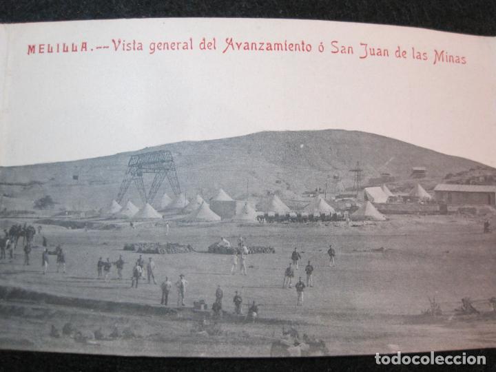 Postales: MELILLA-VISTA GENERAL DEL AVANZAMIENTO O SAN JUAN DE LAS MINAS-POSTAL TRIPLE ANTIGUA-(81.252) - Foto 4 - 266927264