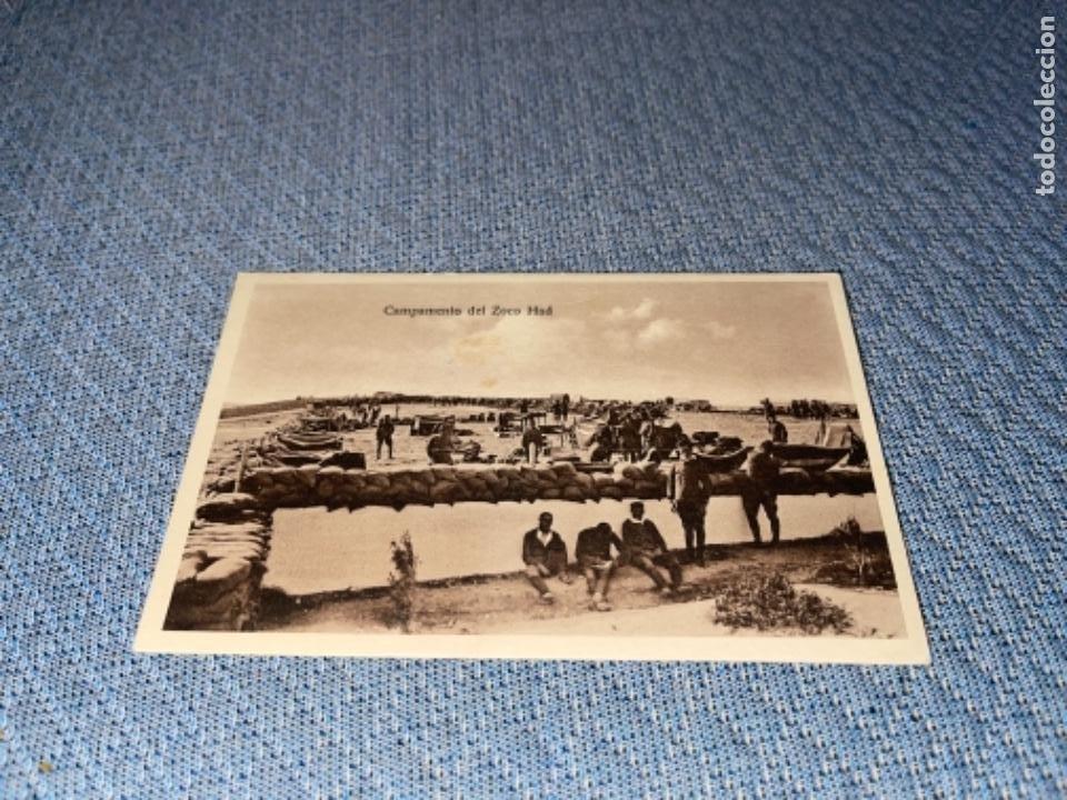 MELILLA MILITAR - CAMPAMENTO DEL ZOCO HAD ESCRITA (Postales - España - Melilla Antigua (hasta 1939))