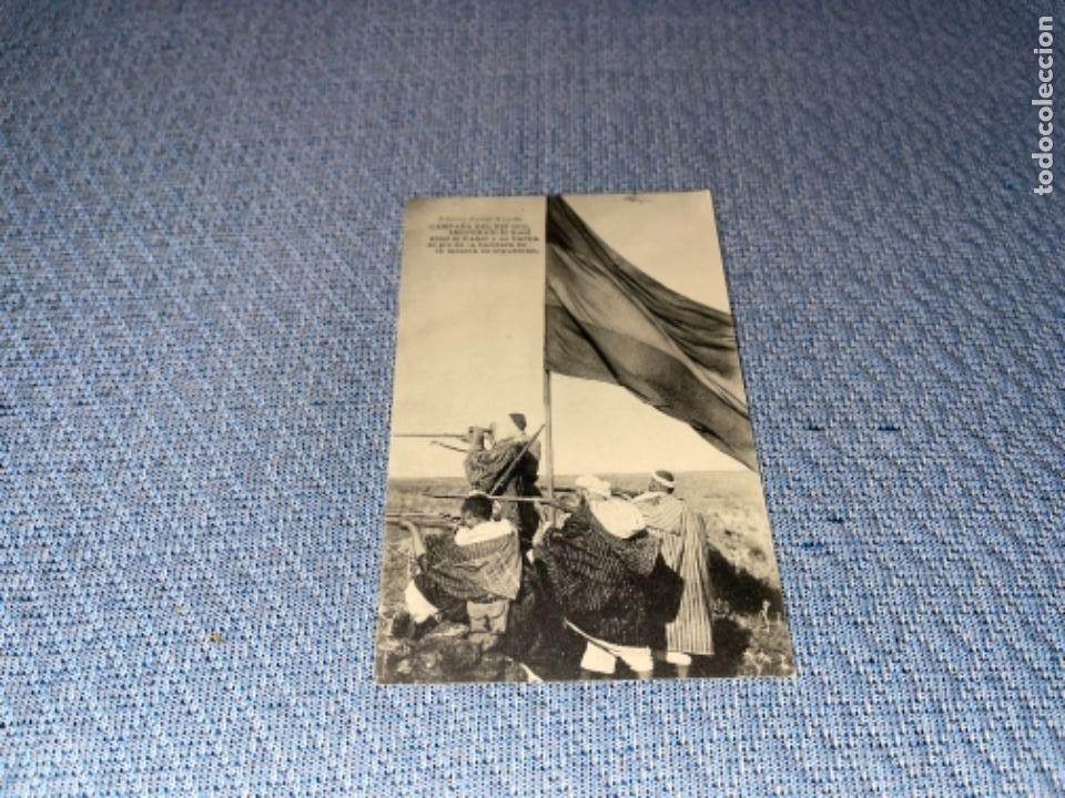CAMPAÑA DEL RIF 1921- IRGUEMAN. EL KAID ABED EL KADER Y SU HARKA AL PIE DE LA BANDERA EN LA MESETA (Postales - España - Melilla Antigua (hasta 1939))