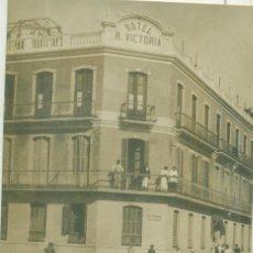 Postales: MELILLA. HOTEL RESTAURANT REINA VICTORIA. HACIA 1910. FOTOGRAFICA. CON PUBLICIDAD AL DORSO.. Lote 269588433