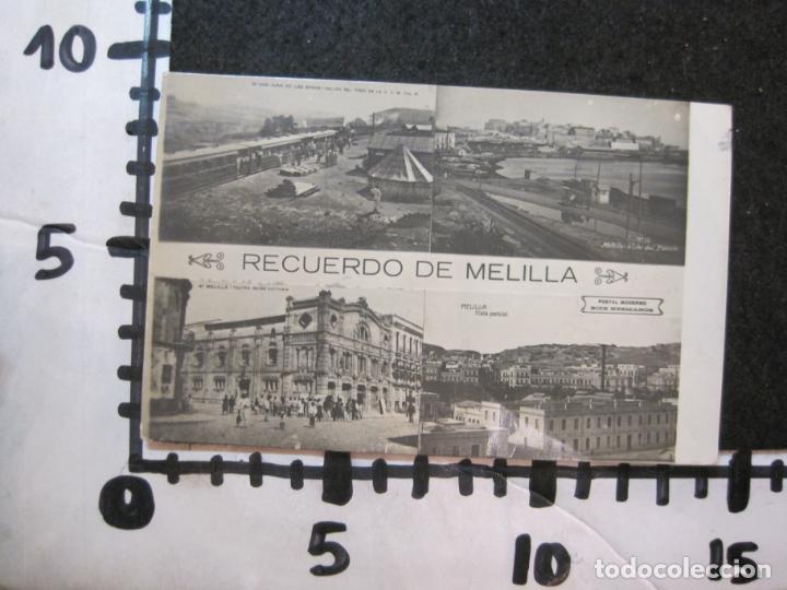 Postales: MELILLA-FERROCARRIL-PUERTO-TEATRO-ED·BOIX HERMANOS-FOTOGRAFICA-POSTAL ANTIGUA-(82.065) - Foto 8 - 272289348