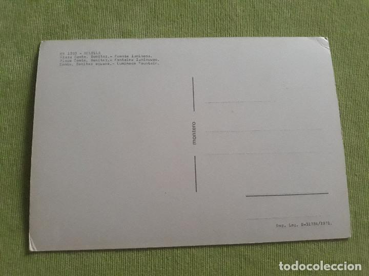 Postales: Melilla - Nº 1303 - Plaza Comte. Benitez - Fuente luminosa - Año 1971 - Foto 2 - 275983773