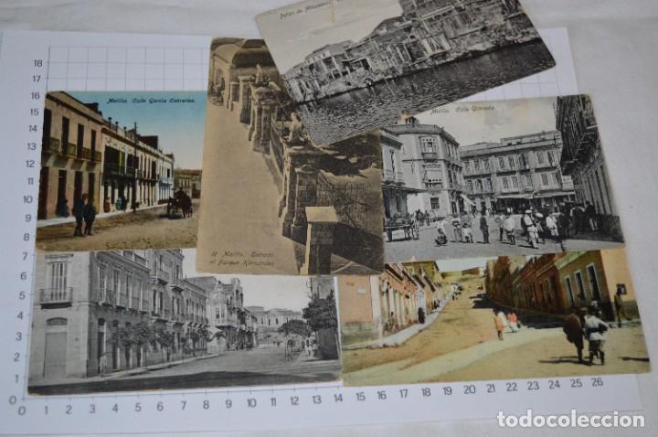 Postales: 6 Antiguas / DIFÍCILES POSTALES SIN CIRCULAR - Melilla y Peñón de Alhucemas ¡Mira detalles! - Foto 2 - 276949478