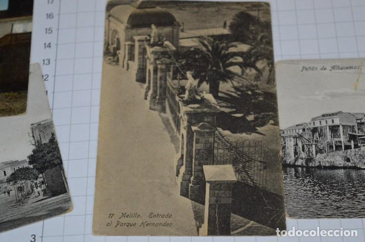 Postales: 6 Antiguas / DIFÍCILES POSTALES SIN CIRCULAR - Melilla y Peñón de Alhucemas ¡Mira detalles! - Foto 5 - 276949478
