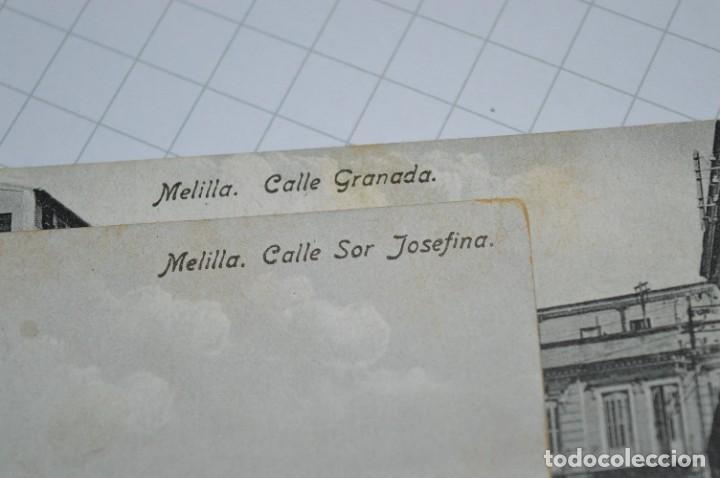 Postales: 6 Antiguas / DIFÍCILES POSTALES SIN CIRCULAR - Melilla y Peñón de Alhucemas ¡Mira detalles! - Foto 8 - 276949478