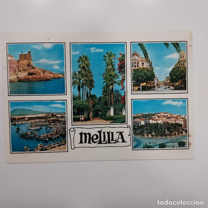 POSTAL MELILLA. VISTAS DE LA CIUDAD (MELILLA) CIRCULADA 1970. Nº 1521 BEASCOA (Postales - España - Melilla Moderna (desde 1940))