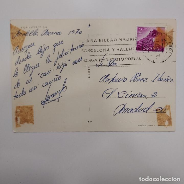Postales: POSTAL MELILLA. VISTAS DE LA CIUDAD (MELILLA) CIRCULADA 1970. Nº 1521 BEASCOA - Foto 2 - 278607628