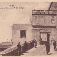 Postales: MELILLA, PUERTA DE ENTRADA AL PUEBLO ANTIGUO. ED. ESPAÑA NUEVA. SIN CIRCULAR. Lote 278617333