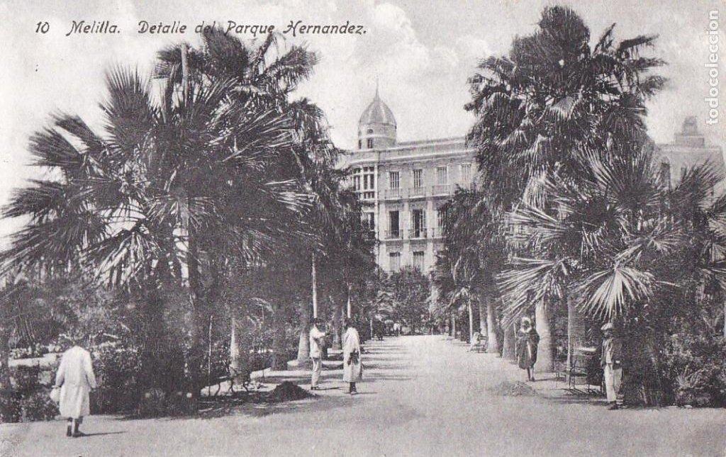 MELILLA, DETALLE DEL PARQUE HERNANDEZ. ED. BOIX HERMANOS Nº 10. SIN CIRCULAR (Postales - España - Melilla Antigua (hasta 1939))