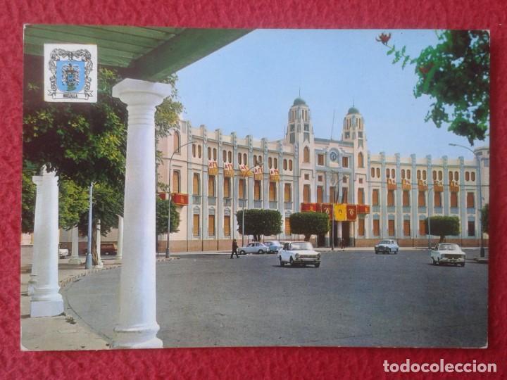 POST CARD CARTE POSTALE MELILLA PLAZA DE ESPAÑA PALACIO MUNICIPAL, MONTERO, 1971, COCHES DE ÉPOCA... (Postales - España - Melilla Moderna (desde 1940))