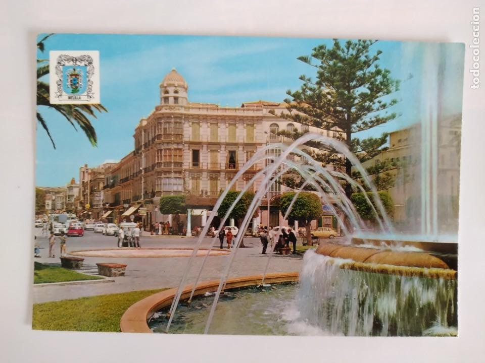 POSTAL MELILLA PLAZA ESPAÑA AVD. GENERALISIMO RV 209 (Postales - España - Melilla Moderna (desde 1940))