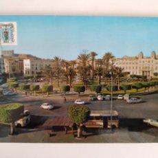 Postales: POSTAL MELILLA PLAZA ESPAÑA AUTOBUS SEAT 600 RV 211. Lote 286147723