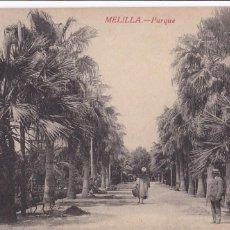 Cartoline: MELILLA, PARQUE. ED. BOIX HERMANOS. SIN CIRCULAR. Lote 287771553