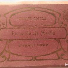 Postales: BLOCK ACORDEON - RECUERDO DE MELILLA - ( BLOCK 2021 ) - 20 TARJETAS. Lote 289545643