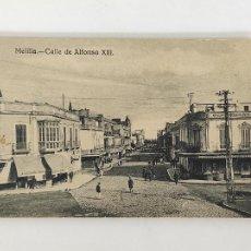 Postales: POSTAL - MELILLA, CALLE DE ALFONSO XIII - EXCLUSIVA CABRERA, MELILLA. Lote 291161173