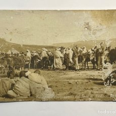 Postales: MELILLA, POSTAL DESLUCIDA!!!, VISTA PANORÁMICA DEL ZOCO EL HAD (H.1910?). Lote 293323943