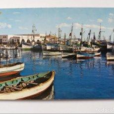Postales: POSTAL - MELILLA - DARSENA PESQUERA - BARCOS - VISTA PARCIAL 4. Lote 293738413