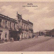 Postales: MELILLA, CALLE GENERAL MARGALLO. ED. ESPAÑA NUEVA. SIN CIRCULAR. Lote 295332508