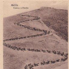 Postales: MELILLA, CONVOY A HARCHA. ED. ESPAÑA NUEVA. SIN CIRCULAR. Lote 295332753