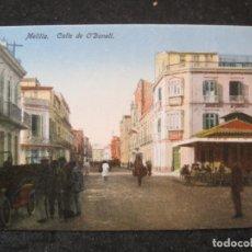Postales: MELILLA-CALLE DE O'DONELL-EDICION BOIX HNOS-POSTAL ANTIGUA-(85.425). Lote 297108663