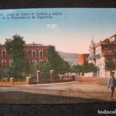 Postales: MELILLA-CALLE ISABEL LA CATOLICA Y EDIFICIO COMANDANCIAS-EDICION BOIX HNOS-POSTAL ANTIGUA-(85.426). Lote 297108703