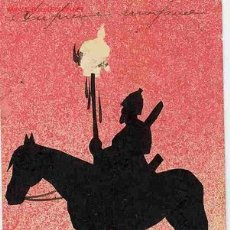 Cartes Postales: POSTAL MILITAR SOMBRA A CABALLO. Lote 18489012