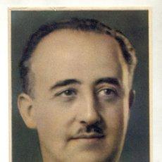 Postales: FRANCO. GENERAL DE BRIGADA. POR JALÓN ÁNGEL. ZARAGOZA. IMPRESA EN TOLOSA(GUIPÚZCOA).. Lote 27212406