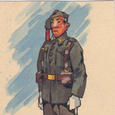 Postales: URIARTE DIBUJO ORIGINAL FIRMADO SOLDADO D INFATERIA ALFONSO XIII 1926 BOINA CON GALA. . Lote 26697365
