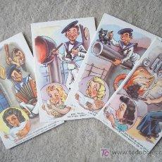 Postales: 9 POSTALES COMICAS DE MARINA AÑOS 50 O 60. Lote 23004828