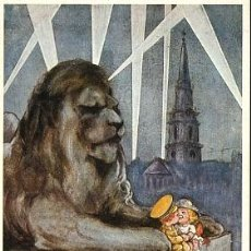 Postales: HISTORIA GRÁFICA DEL SIGLO XX - REPRODUCCIÓN 1982 - WHAT THE ZEPPELIN SAW. Lote 4499388