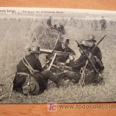 Postales: POSTAL DE LA ARMADA BELGA - EN LA FOTO MANOBRAS DE LOS AMETRALLADORES MAXIM - PRINCIPIOS DE SIGLO. Lote 16501947