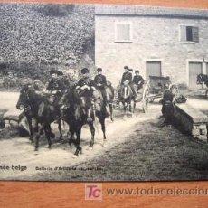Postales: POSTAL DE LA ARMADA BELGA - EN LA FOTO BATTERIE D´ARTILLERIE EN MARCHE - PRINCIPIOS SIGLO XX. Lote 16461471