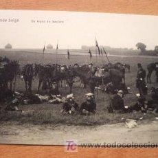 Postales: POSTAL DE LA ARMADA BELGA - EN LA FOTO UN REPOS DE LANCIERS - PRINCIPIOS SIGLO XX. Lote 16478185