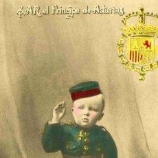 Postales: S.A.R. EL PRINCIPE DE ASTURIAS T.C. Nº 69, FOTOGRAFICA CIRCULADA. Lote 4748700