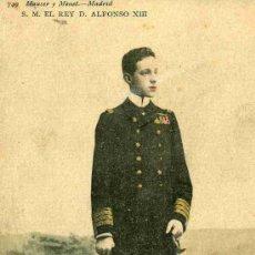Postales: POSTAL DE S.M. D. ALFONSO XIII,LOS GALONES Y MEDALLAS EN COLOR,. Lote 4748744
