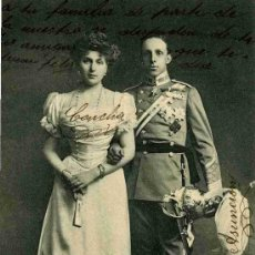 Postales: POSTAL DE SS.MM. D. ALFONSO XIII Y Dª VICTORIA EUGENIA, REYES DE ESPAÑA HAUSER 1997. Lote 4748752
