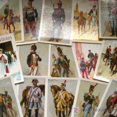 Postales: 15 POSTALES UNIFORMES MILITARES. AÑOS 80. Lote 23152000