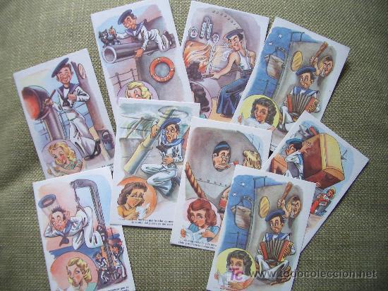 Postales: 9 POSTALES COMICAS DE MARINA AÑOS 50 O 60 - Foto 2 - 23004828