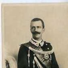 Postales: POSTAL MILITAR EMANUEL III REY DE ITALIA. Lote 5838286