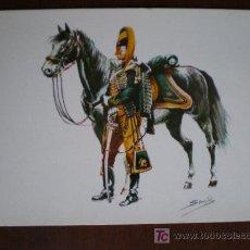 Postales: EJERCITO ESPAÑOL. 1705. REGIMIENTO DE HUSARES DE LA MUERTE. SOLDADO.. Lote 10889655