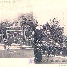 Postales: UN JEFE DE BRIGADA Y SU ESCOLTA. BATALLÓN DE TELÉGRAFOS.. Lote 18388858