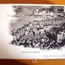 Postales: POSTAL MILITAR ANTIGUA. AÑO 1907. CONCURSO DE ESGRIMA.. Lote 25671566