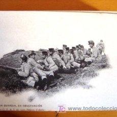 Postales: POSTAL MILITAR ANTIGUA. AÑO 1907. GRAN GUARDIA, EN OBSERVACIÓN.. Lote 25697496