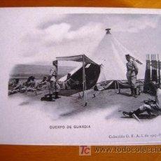Postales: POSTAL MILITAR ANTIGUA. AÑO 1907. CUERPO DE GUARDIA.. Lote 27576751