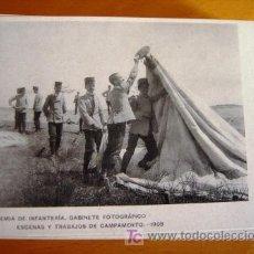 Postales: POSTAL MILITAR ANTIGUA. AÑO 1908. ESCENAS Y TRABAJOS 12.. Lote 25757688
