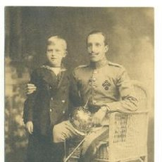 Postales: SSM. DON ALFONSO XII Y SAR. EL PRINCIPE DE ASTURIAS ..1915. Lote 20868943