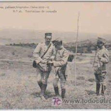 Postales: POSTAL MILITAR, ACADEMIA DE INFANTERIA, CURSO 1912-13, TOLEDO, Nº28, TELEFONISTAS DE CAMPAÑA. Lote 7836631