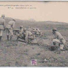 Postales: POSTAL MILITAR, ACADEMIA DE INFANTERIA, CURSO 1912-13, TOLEDO, Nº34, AMETRALLADORAS EN POSICION. Lote 7836685