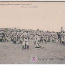 Postales: POSTAL MILITAR ACADEMIA DE INFANTERIA DE TOLEDO CURSO 1912-13, Nº39, UN DESCANSO. Lote 7841443